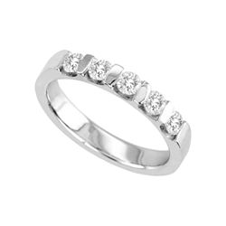 1/2 CT. T.W. Channel-Set Diamond Band