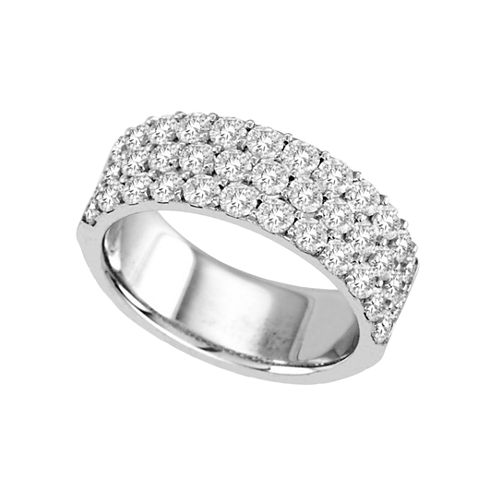 2 CT. T.W. Diamond Three-Row Band
