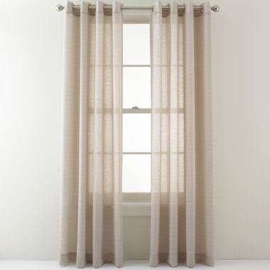 jcpenney.com | Studio™ Shadow Boxes Grommet-Top Sheer Panel
