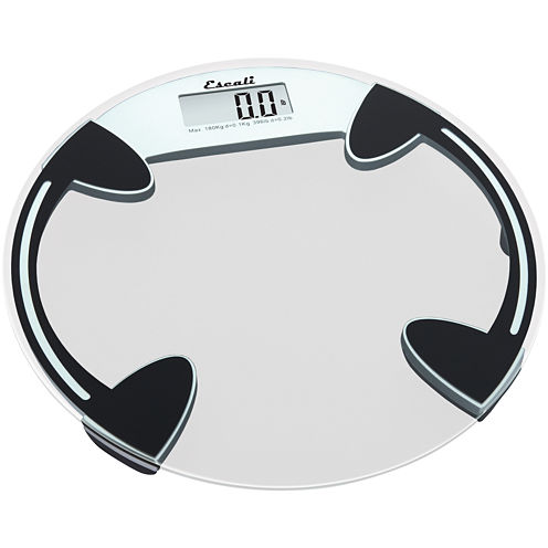 Escali® Round Glass Bathroom Digital Scale B18ORC