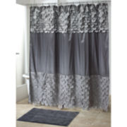 Avanti Flutter Dots Granite Shower Curtain