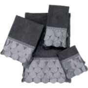 Avanti Flutter Dots Granite Bath Towels