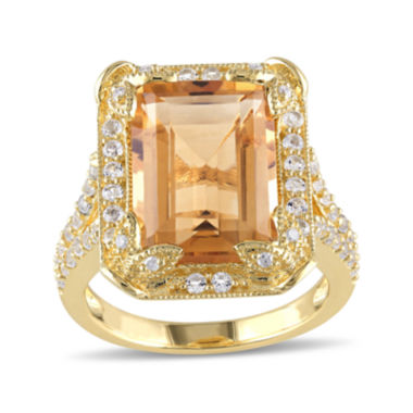 jcpenney.com | Genuine Citrine, White Topaz and Diamond-Accent Ring