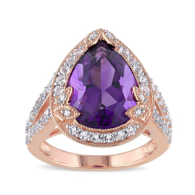jcpenney.com | Genuine Amethyst, White Topaz and Diamond-Accent Ring