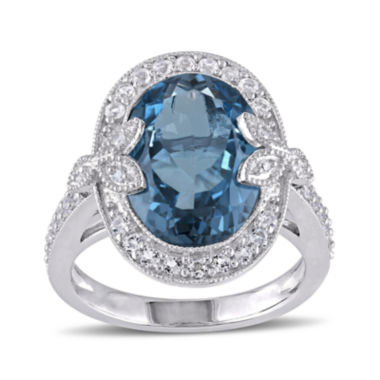 jcpenney.com | Genuine London Blue Topaz, White Topaz and Diamond-Accent Ring