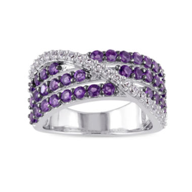 jcpenney.com | Genuine Amethyst and Lab-Created White Sapphire Band