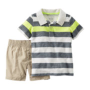 Carter's® Jersey Polo and Shorts Set – Toddler Boys 2t-5t