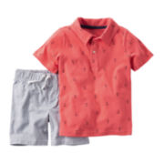 Carter's® 2-pc. Polo and Shorts Set -Toddler Boys 2t-5t