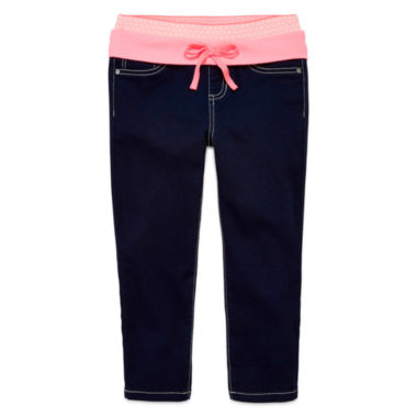 jcpenney.com | Squeeze Denim Capri Jeggings with Knit Waistband - Girls 7-14