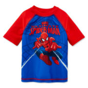 Marvel® Spiderman Short-Sleeve Rash Guard - Boys 2t-5t