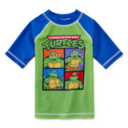 Teenage Mutant Ninja Turtles Short-Sleeve Rash Guard - Boys 2t-5t