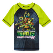Teenage Mutant Ninja Turtles Rash Guard - Preschool Boys 4-7