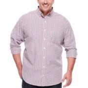 IZOD® Long-Sleeve Plaid Woven Shirt - Big & Tall