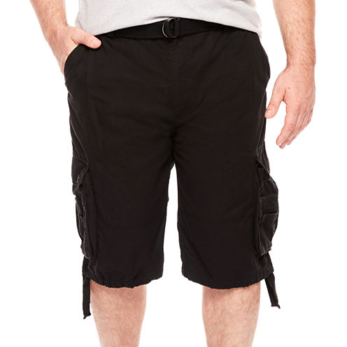 D'Amante Enzyme Wash Cargo Shorts - Big & Tall