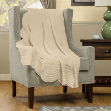 jcpenney.com | Madison Park Marino Oversized Quilted Throw
