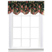 Waverly® Charleston Chirp Noir Scalloped Valance