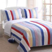 Greenland Home Fashions Prairie Stripe Quilt Set