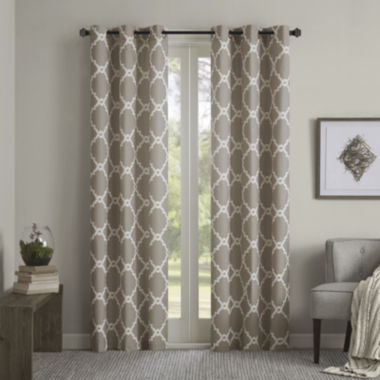 jcpenney.com | Almaden Printed Fret Grommet-Top Curtain Panels
