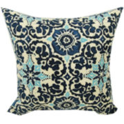 Woodblock Prism Outdoor Pillow
