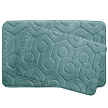 jcpenney.com | Bounce Comfort Hexagon 2-pc. Memory Foam Bath Mat Set