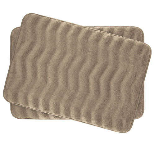 "Bounce Comfort Waves Memory Foam 17x24"" 2-pc. Bath Mat Set"