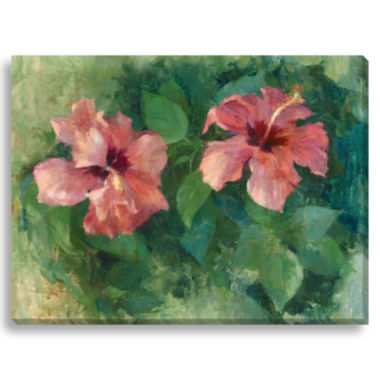 jcpenney.com | Two Hibiscus Canvas Wall Art