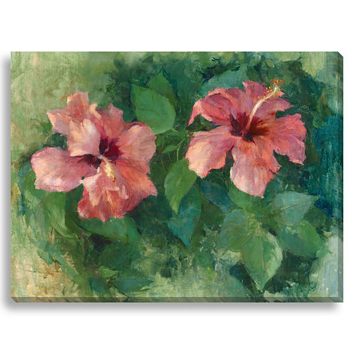 Two Hibiscus Canvas Wall Art