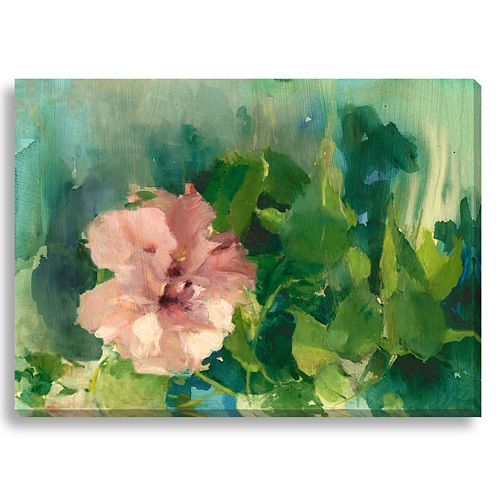 Pink Hibiscus II Canvas Wall Art