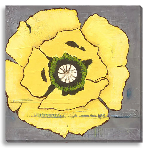 Yellow Poppies II Canvas Wall Art