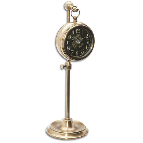 Pocket Watch Brass Woodburn Table Clock