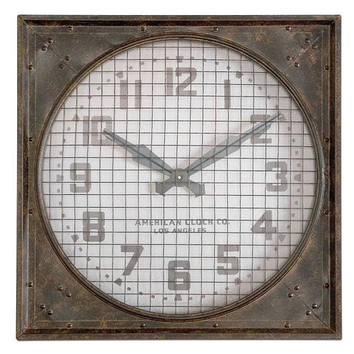 Warehouse Clock with Grill Wall Clock