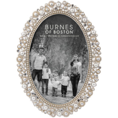 "jcpenney.com | Oval Jeweled 4x6"" Picture Frame"
