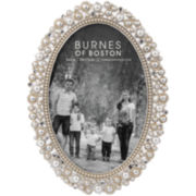 "Oval Jeweled 4x6"" Picture Frame"