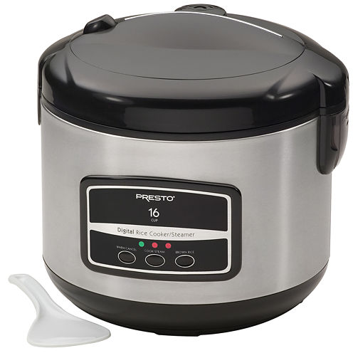 Presto® 16-Cup Digital Rice Cooker & Steamer