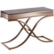 Aberdeen Champagne Mirrored Console Table