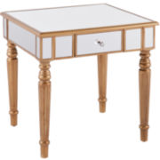 Galewood Mirrored End Table