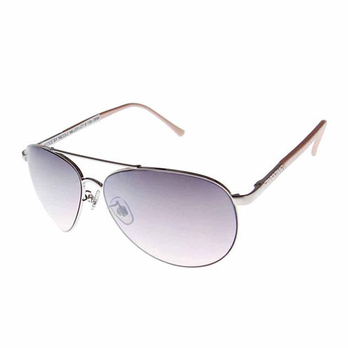 Nicole By Nicole Miller Aviator UV Protection Sunglasses