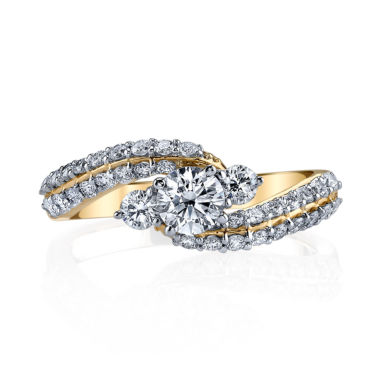 jcpenney.com | Sirena Modern Bride Signature Womens 1 CT. T.W. Round White Diamond 14K Gold Engagement Ring