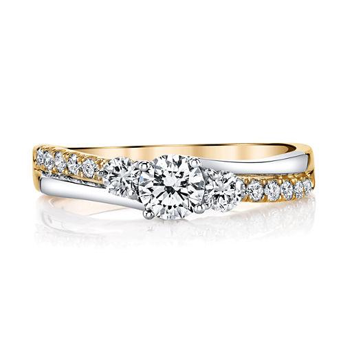 Sirena Modern Bride Signature Womens 3/4 CT. T.W. Round White Diamond 14K Gold Engagement Ring