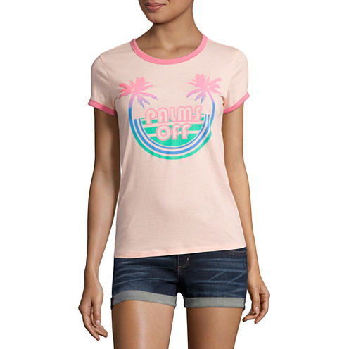 """Arizona """"Palms Off"""" Graphic T-Shirt- Juniors"""