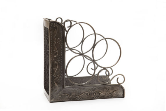 jcpenney.com | Old Dutch Antique Embossed Victoria 3 Bottle WineRack Bookend