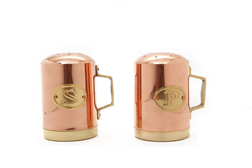 Old Dutch Décor Copper Stovetop Salt and Pepper Set