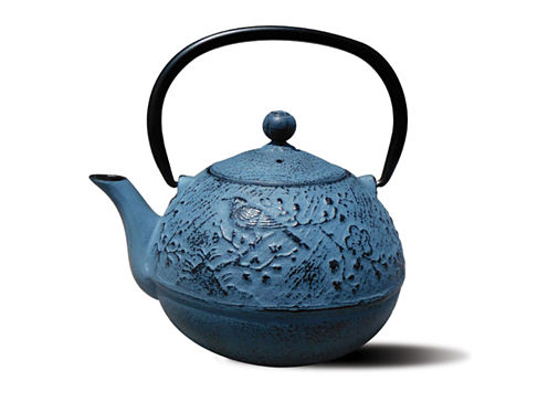 Old Dutch 24 Oz Waterfall Blue Cast Iron Suzume Teapot
