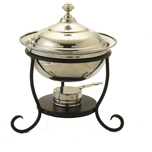 Old Dutch 3 Qt. Round Polished Nickel Chafing Dish