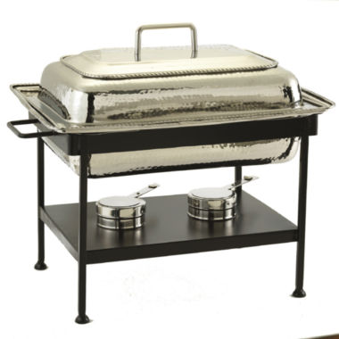 jcpenney.com | Old Dutch Rectangular Polished Nickel over Stainless Steel Chafing Dish 8 Qt