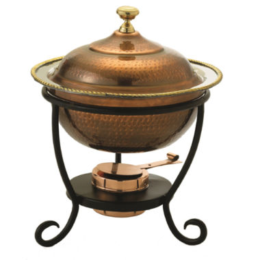 jcpenney.com | Old Dutch Round Antique Copper over Stainless Steel Chafing Dish 3 Qt