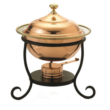 jcpenney.com | Old Dutch Round Décor Copper over Stainless SteelChafing Dish 3 Qt