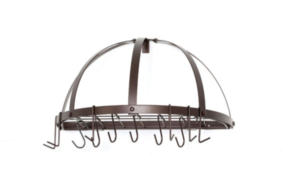 jcpenney.com | Old Dutch Oiled Bronze Medium Gauge Half Round PotRack with Grid and 12 Hooks