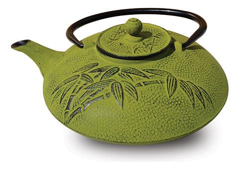 Old Dutch 26 Oz Moss Green Cast Iron Positivity Teapot
