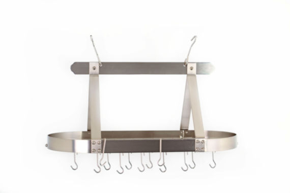 jcpenney.com | Old Dutch Satin Nickel Oval Hanging Pot Rack withGrid and 16 Hooks